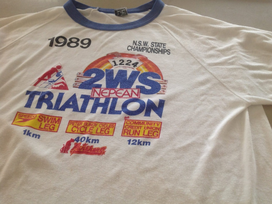 Nepean Triathlon Finishers Tshirt 1989