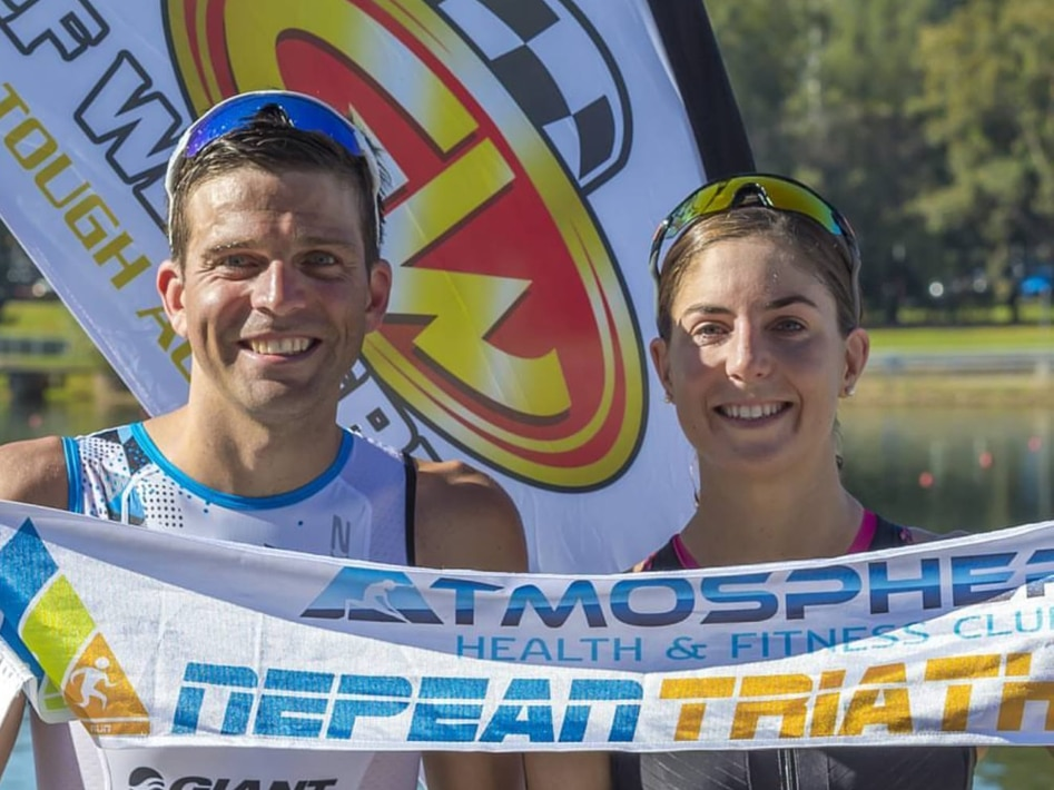 2017 Nepean Triathlon Winners Ashleigh Gentle And Aaron Royle