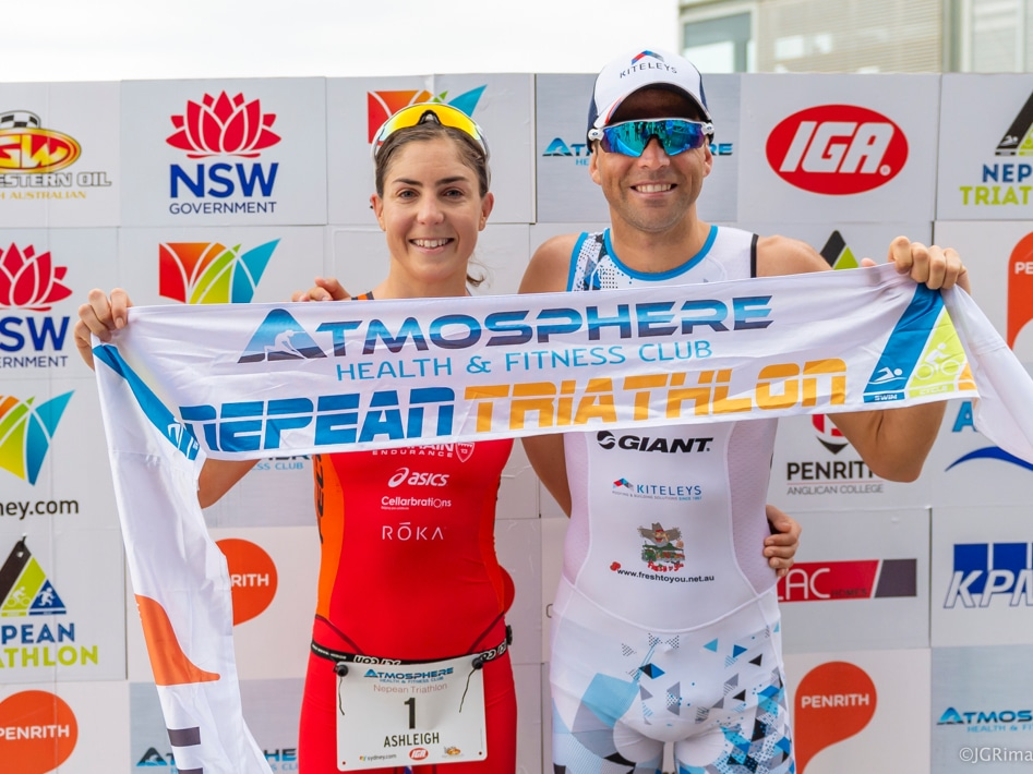 2018 Nepean Triathlon Winners Ashleigh Gentle And Aaron Royle
